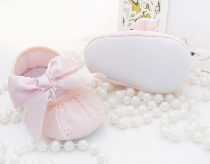 newborns Baby Shoes bowknot Baby Girls Shoes Toddler Boys first walkers boys PU Soft sole 0-18 month sneakers Christmas