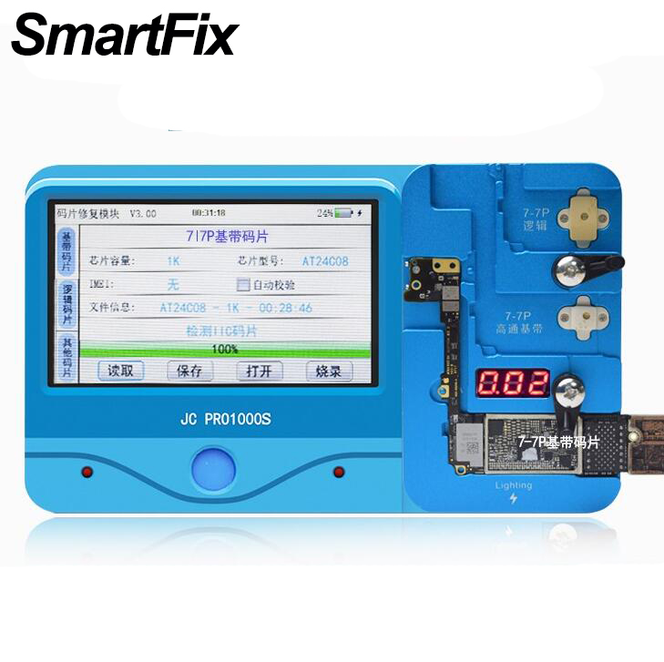 SmartFix for iPhone X 8 Plus 7 Baseband Logic Code Chip iC iCloud Remove Tools Machine for iPhone 7 Plus Flash Memery Expand baseus little devil case for iphone 7 plus black