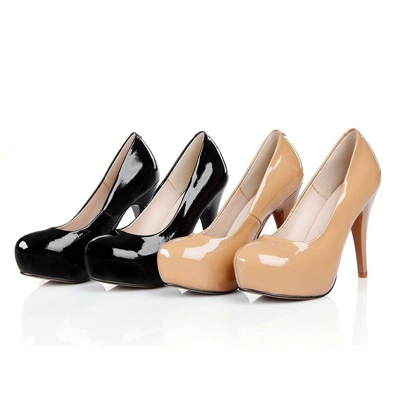 Genuino Bombas Chainingyee A Zapatos Mujer Alto Cuero Sexy Hecho apricot Pintura Calidad Tacón Black De Mano Plstform Negro Personalizar Albaricoque Punta zzp8q
