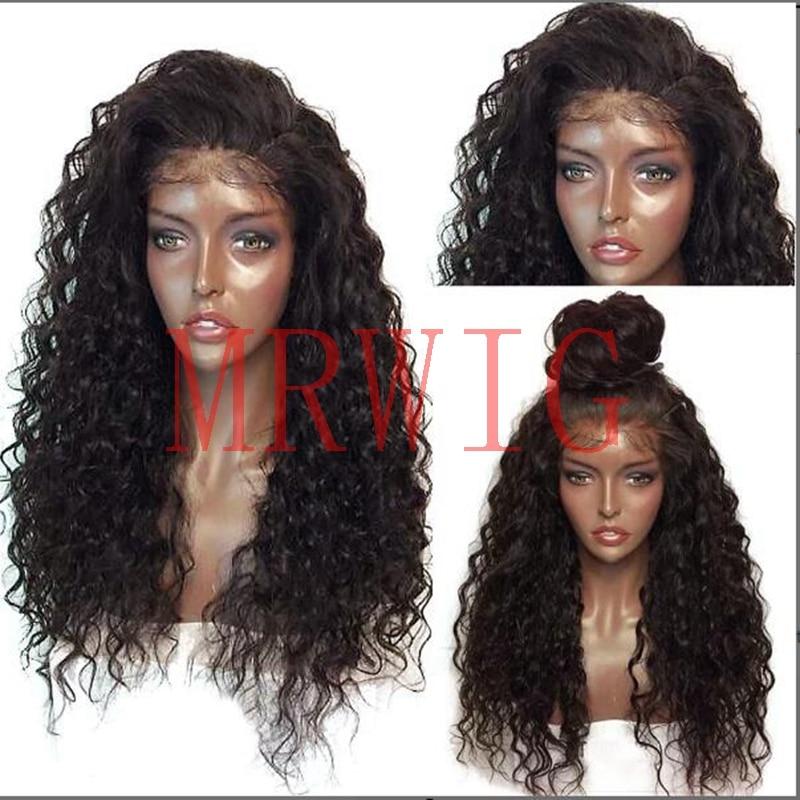 MRWIG Kinky Curly Syntetisk Glueless Front Wig Baby Hår - Syntetiskt hår - Foto 2