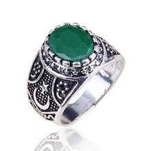 Antyczne muzułmańskie pierścień niebieski kamień i czerwony kamień pierścień dla mężczyzn i kobiet Islam Retro moda arabski biżuteria prezent