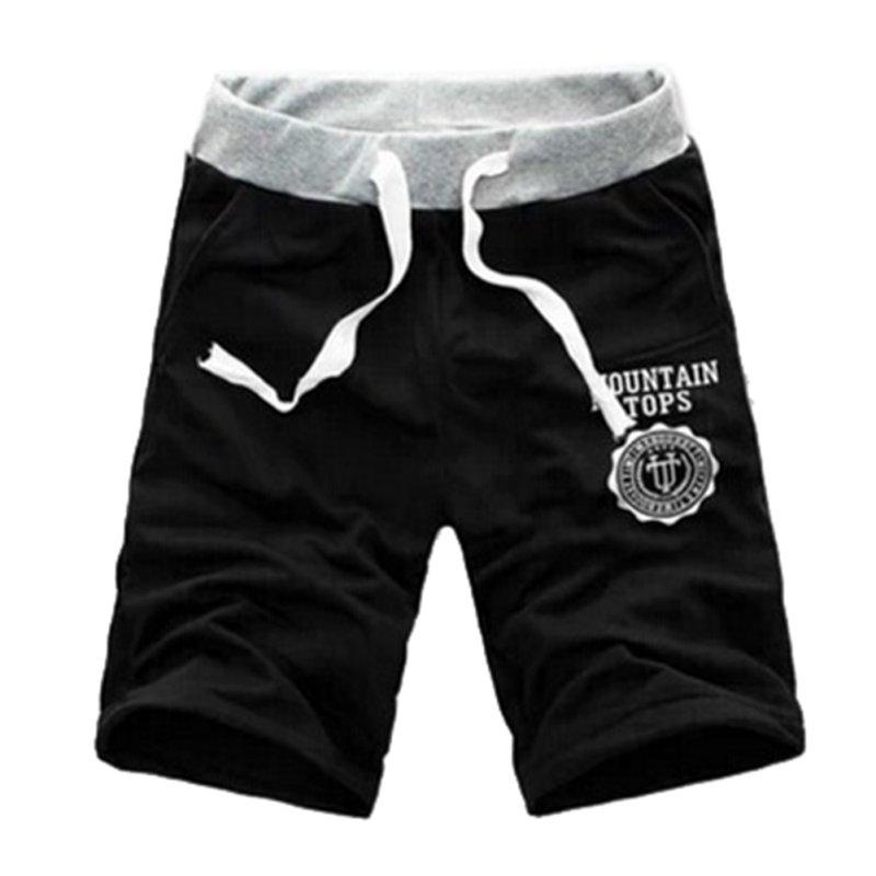 Men's Slim Short Trousers Casual Jogger Mens Gray Black Cotton Sweatpants Fitness Workout Shorts Homme M-XXXL