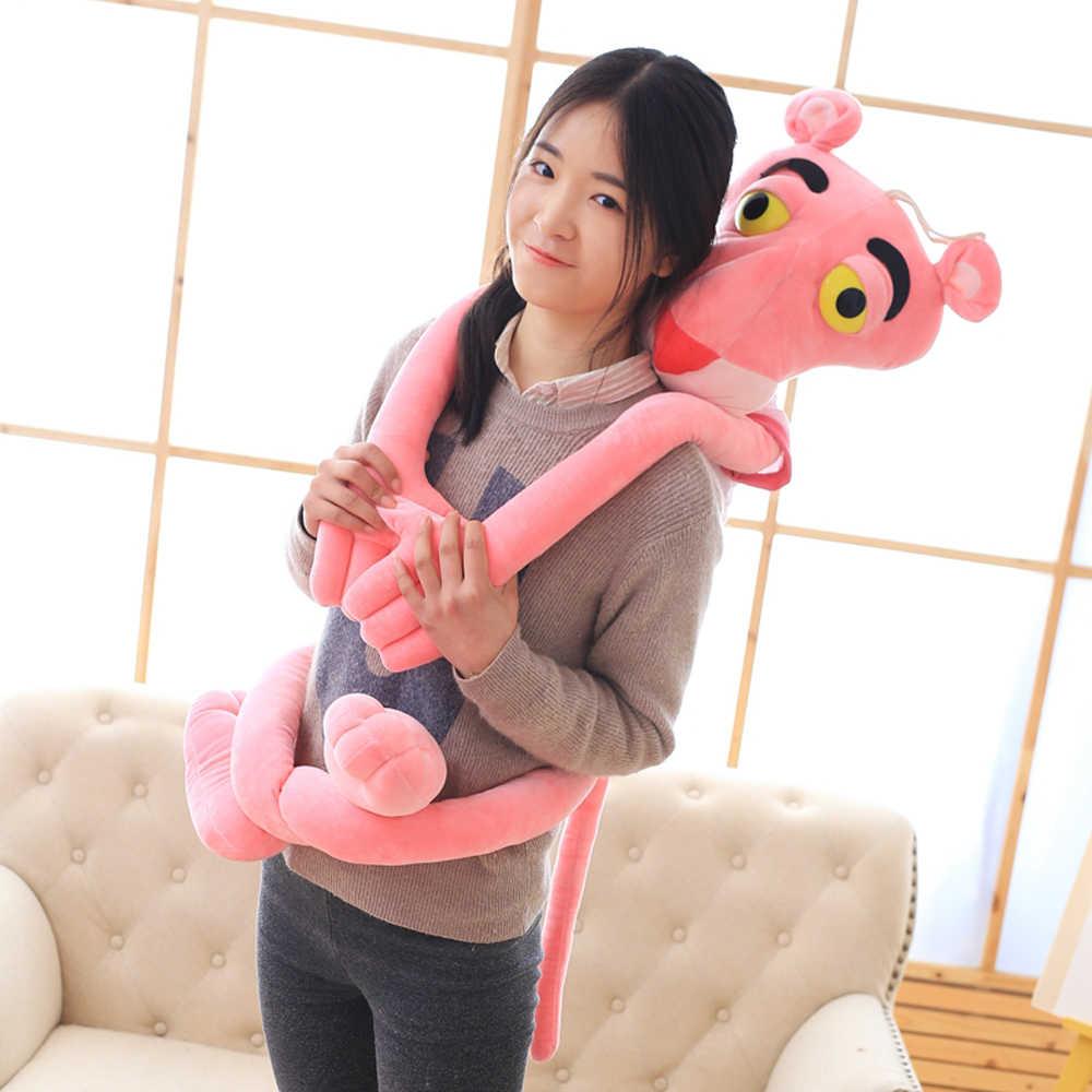 1pc 55/Shin 80 centímetros kawaii Leopardo T-shirt Pantera Cor de Rosa de brinquedo de pelúcia bicho de pelúcia macia bonecas animal tão bonito crianças presente birhtday