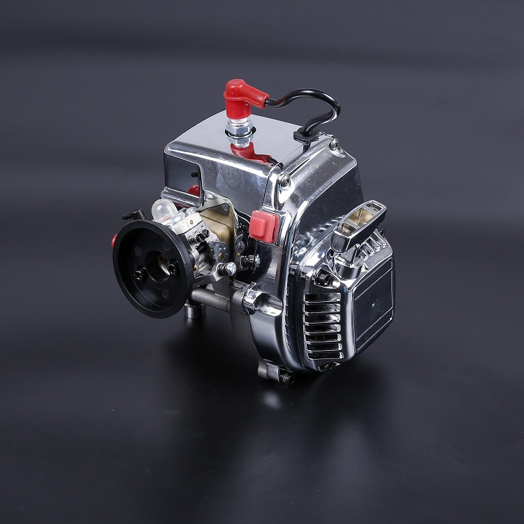 Rovan Gas Baja 30.5cc 4 BOLT Chrome Engine With Walbro Carb And NGK Spark Plug For 1/5 scale HPI KM LOSI RC Car Parts aluminum 4 hole 29cc engine walbro 668 with ngk spark plug for 1 5 rovan baja 5b 5t