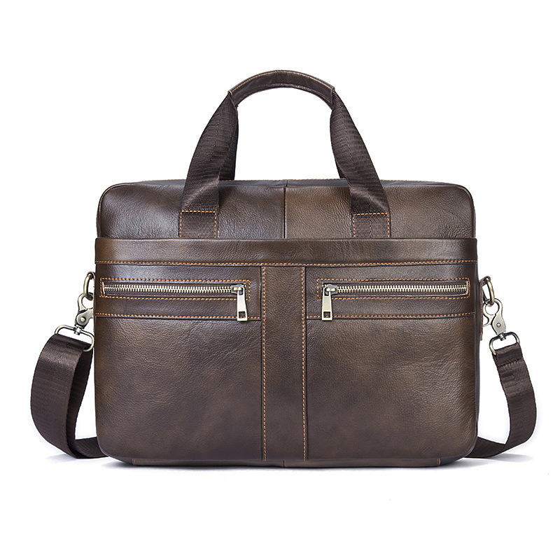 Vintage Men Handbag men shoulder bags Business Briefcase High Quality Genuine Leather Laptop Bag Male Trendy Men Leisure bags new high quality male leather men laptop briefcase bag 14 inch computer bags handbag business bag single shoulder business bags