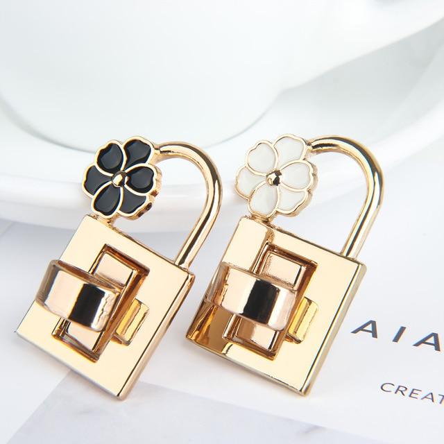 2019 Hot Sell New Metal Clasp Turn Lock Twist Locks for DIY Handbag Craft Bag Purse Hardware Flower Metal Clasp Turn Lock