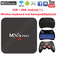 MXQ Pro Android 7 1 TV BOX Amlogic S905W Android Quad Core 1GB 8GB Media Player