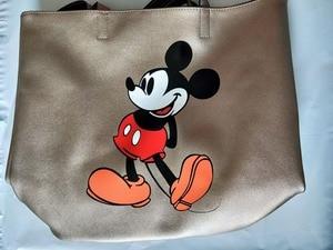 Image 5 - Bolso de hombro de gran capacidad con dibujo de Mickey Mouse de Disney, bolso de mano para mujer, de compras, de ocio, a la moda