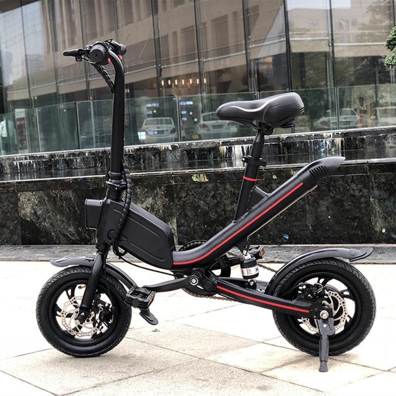 12 inch children folding e-bike 36V batteries electric bikes 700W green power city electric bicycle skateboard