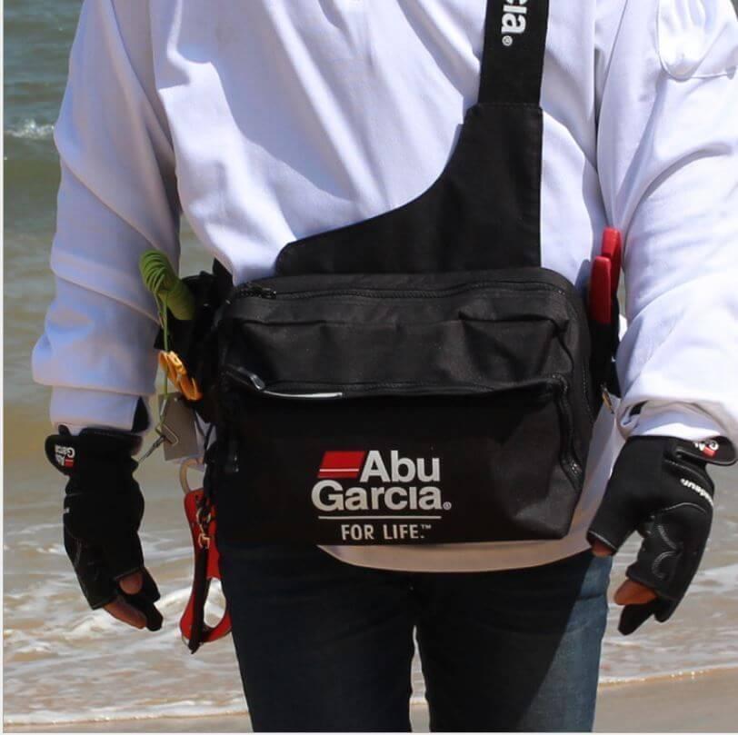 Fishing Waist Tackle Bag Waterproof Waist Shoulder Pack Case Reel Lure Line Hook Swivel Connector Tackle Fanny Bag Pack ABU