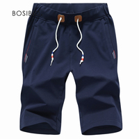 Summer Men Shorts Casual Bermuda Cotton Solid Elastic Waist Man Short With Pockets Plus Size 5XL