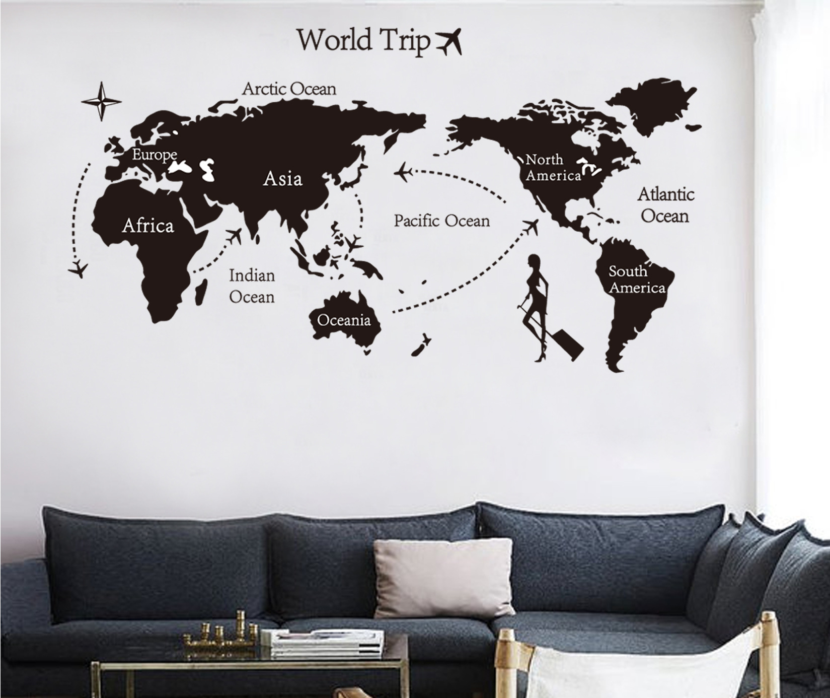 Creativo grande diy world map wallpaper 3d arte de la pared lista de fotos gumiabroncs Gallery