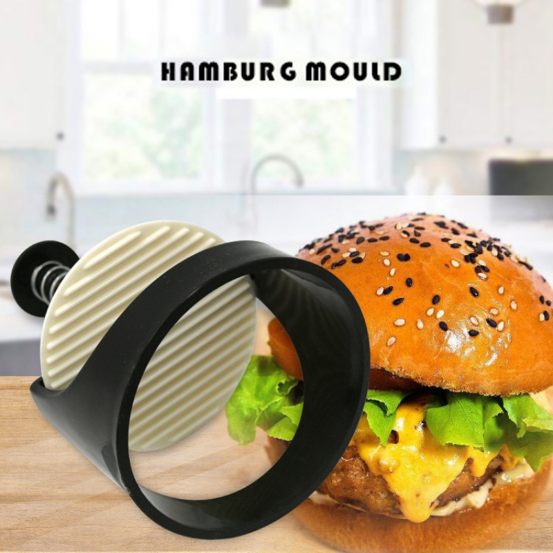 Plastic DIY Multi-function Manual Hamburger Meat Press Stuffed Burger Maker Tool for Kitchen BBQ Meatloaf Making image