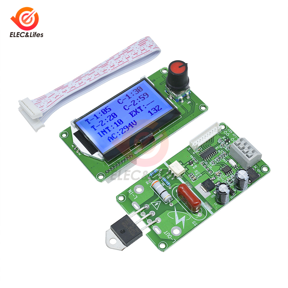 40A 100A LCD Digital Double Pulse Encoder Spot Welder Control Board Module DIY For 18650 Lithium Battery / Battery Group Welding