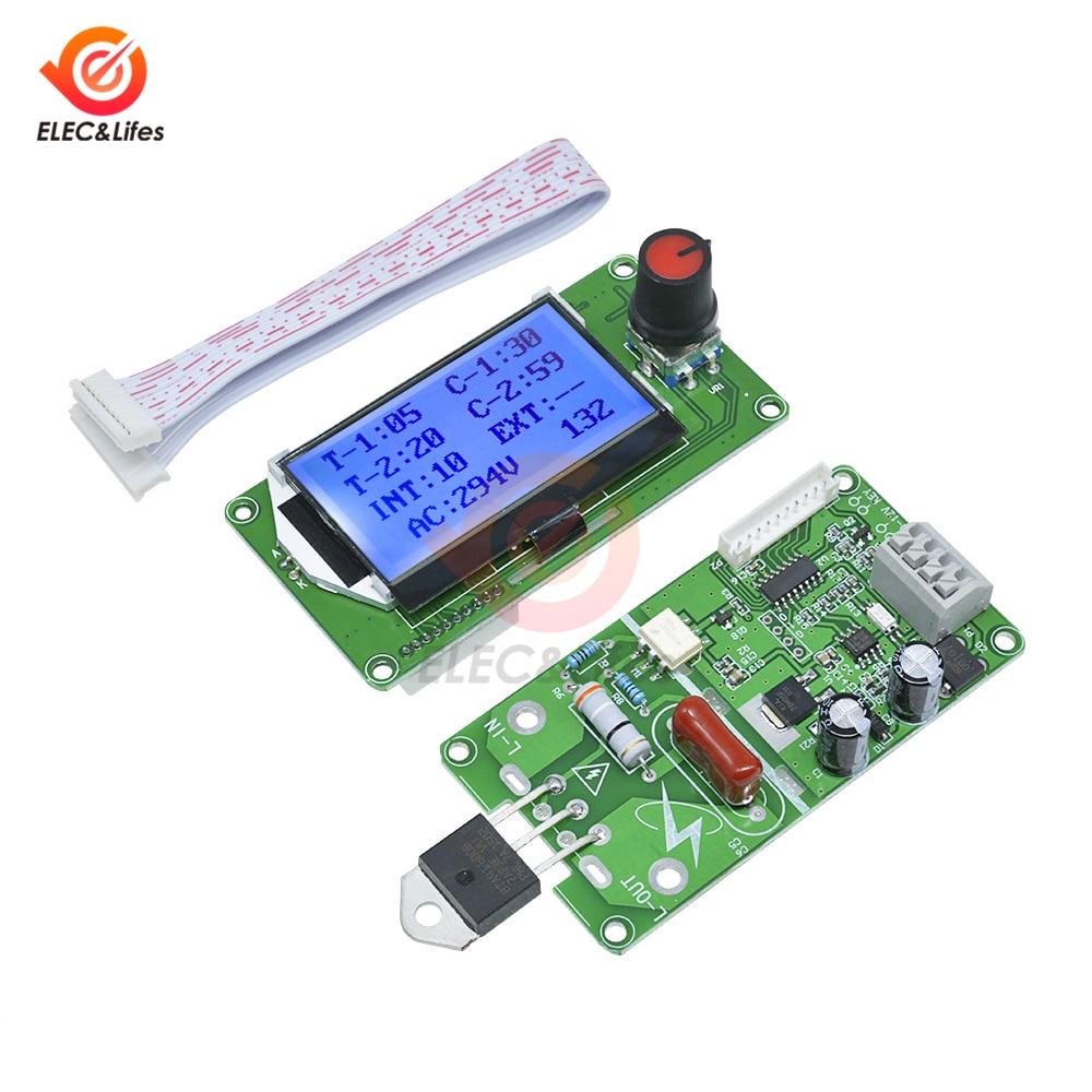 40A 100A LCD Digital Double Pulse Encoder Spot Welder Control Board Module DIY For 18650 Lithium Battery / Battery Group Welding