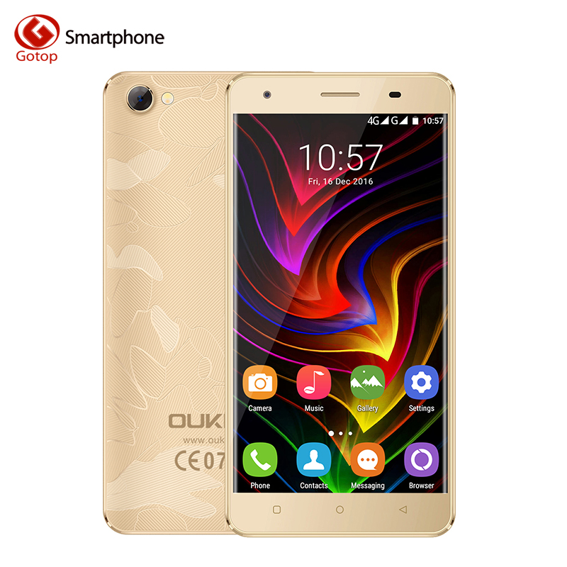 Oukitel C5 Pro 5.0 Inch Smartphone Android 6.0 MTK6737 Quad Core Mobile Phone 2GB RAM 16GB ROM Metal Frame Unlocked Cell Phone