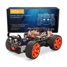 SunFounder Obstacle Avoidance Line Following Remote Control RC Car Kit For Raspberry Pi 3 ,2 Model B+Toy(RPI 3 not included)(China)