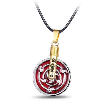 Julie Store Infinite Tsukuyomi Sharingan Pendants Necklaces for Women Hot Anime Naruto Necklace Pendant 2017 Charm Men Jewelry image