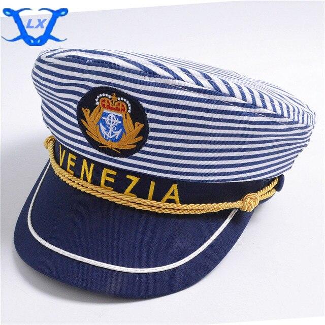 Fashion Striped Navy Caps Adjustable Adult Children Adjusted Captain Caps  Flat Caps Sailor Hat