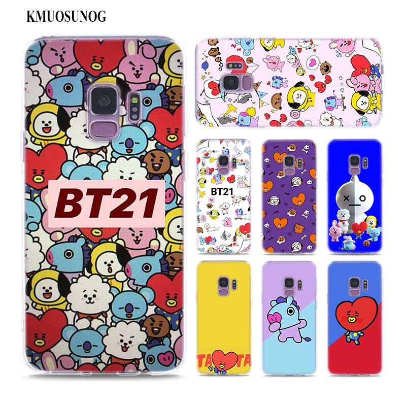 Phone Bags & Cases Cellphones & Telecommunications Painstaking Transparent Soft Silicone Phone Case Cute Bts Bt21 For Samsung Galaxy Note 9 8 S9 S8 Plus S7 S6 Edge S5 S4 Mini Bright Luster