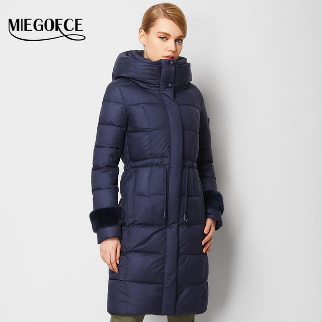High Quality Woman Down Parka Winter Women Down Coat Jacket Long Warm outwwar MIEGOFCE 2016 New Winter Collection European hot