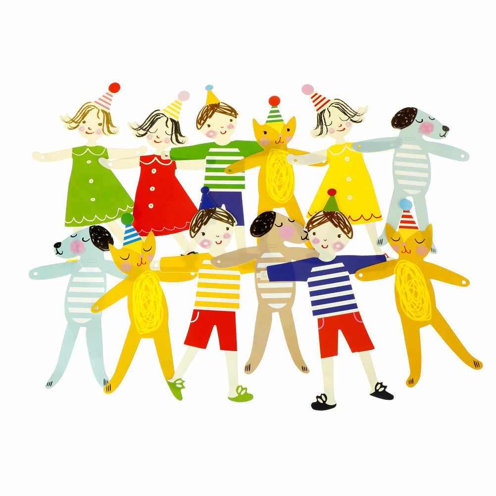 Enfant anniversaire guirlande dessin animé Figure Animal papier drapeaux bannières enfants douche décorations fête d'anniversaire décor fête fournitures