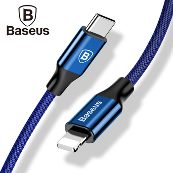 Baseus Type-c PD 18W Quick Charging Cable For iPhone X 10 8 Plus USB-C Fast Data Sync Cable Type C Charger Mobile Phone Cable iPhone XS