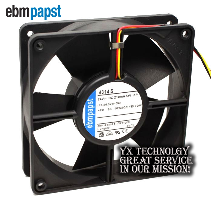 ebm papst Original TYP 4314S 12032 24V5W 3 line drive double ball bearing cooling fan 120*120*32mm new original ebm papst iq3608 01040a02 iq3608 01040 a02 ac 220v 240v 0 07a 7w 4w 172x172mm motor fan
