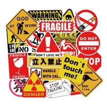 10 PCS Warning Stickers Danger Banning Signs Reminder Waterproof Decal Sticker to DIY Laptop Motorcycle Luggage Snowboard Car