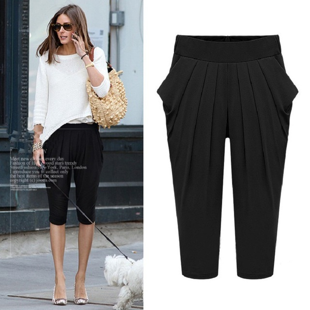 d1482972cde Fat mm L-5XL Plus Size Harem Pants 2019 Summer The New Fashion Show Thin  Calf-Length Pants Loose Joker Women Casual Trouser