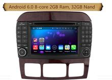 Octa-Core Android 6.0 Car Dvd Gps Navi Audio for Benz S Class W220 S280 S420 S430 S320 S350 S400 S500 S600 S W220 CL-W215 2005