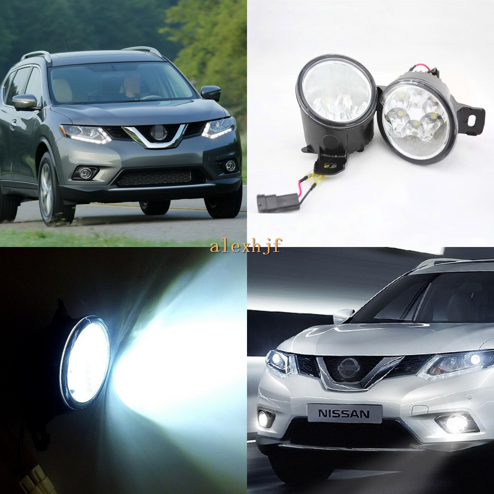July King 18W 6LEDs H11 LED Fog Lamp Assembly Case for Nissan X-trail Rouge 2014~2016,  6500K 1260LM LED DRL july king 18w 6leds h11 led fog lamp assembly case for nissan x trail 2014 on rouge 2008 2011 2014 on 6500k 1260lm led drl