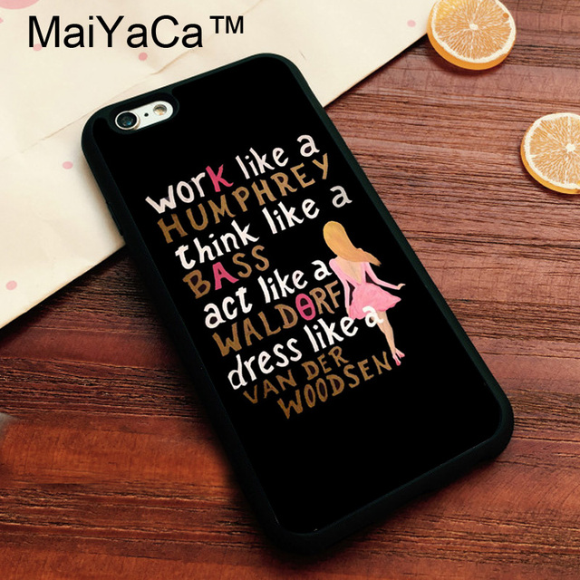 super popular 11fc5 4377d US $4.34 5% OFF|MaiYaCa Gossip Girl Quotes Brand Cover for Apple iPhone 7  Case Soft TPU Phone Case for Apple iPhone 7 Back Cover-in Fitted Cases from  ...