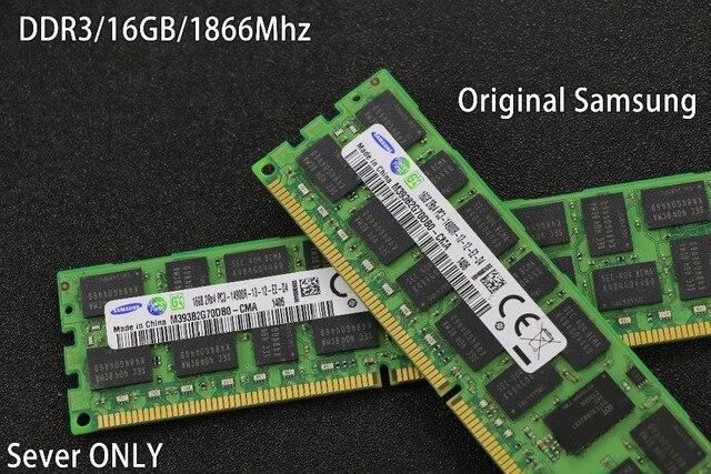 original Samsung Server RAM 8GB 16GB DDR3 1866Mhz 8G 16G 1866 REG ECC server memory RAM work 16gb 24gb 16g 24g 32gb 32g