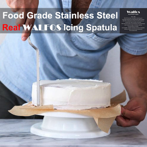 Image 4 - WALFOS Stainless Steel Butter Cake Cream Knife Spatula for Cake Smoother Icing Frosting Spreader Fondant Pastry Cake Decorating