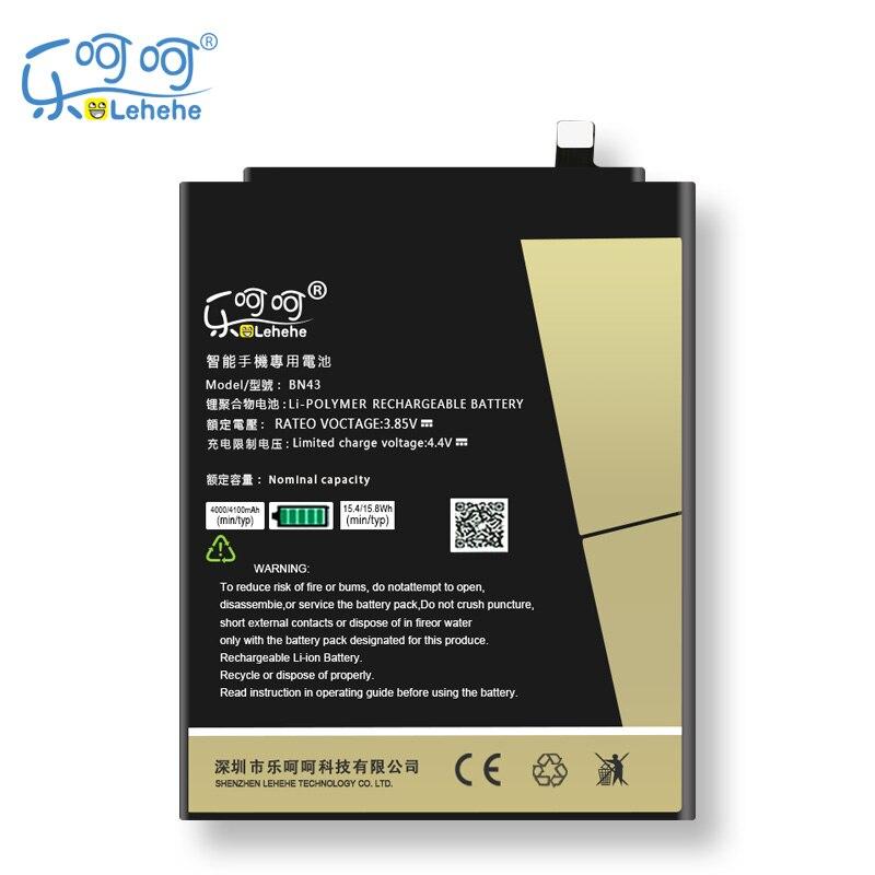 D'origine LEHEHE Batterie BN43 4100 mah Pour Xiaomi Redmi Note 4X4 X/Note 4 mondiale Snapdragon 625 livraison Gratuite Outils Cadeaux