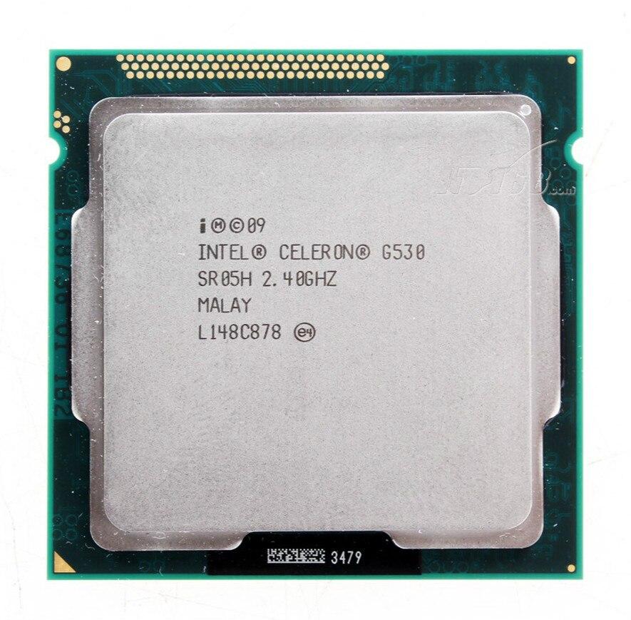 Original G530 CPU Processor Celeron G530 2M Cache, 2.40 GHz LGA 1155 TDP 65W Desktop CPU