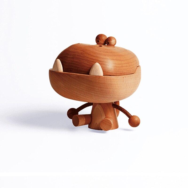 Grande bouche en bois Dragon hêtre bois Art jouet cadeau d'anniversaire Original conçu décoration chêne dessin animé Dragon - 2
