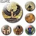 Магнит на холодильник в стиле древнего Египта, египетской культуры, стеклянный держатель для банкнот, домашний декор, 30 мм