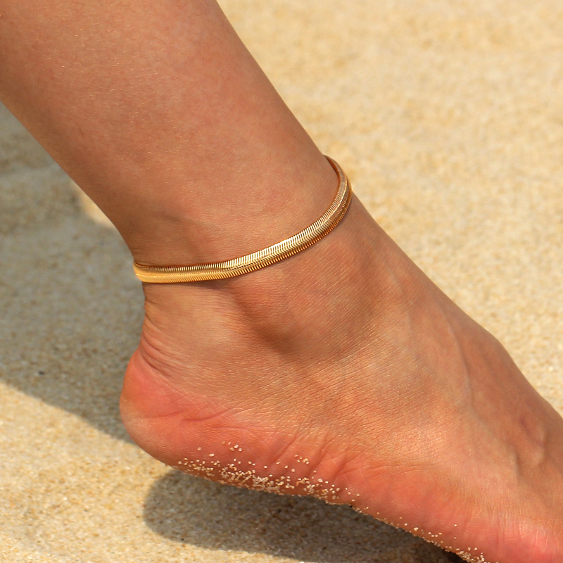 Simple-Style-Sexy-Gold-Silver-Chain-on-Foot-Snake-Metal-Flat-Snake-Chain-Anklet-Bracelet-on