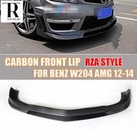W204 C63 RZA Style Carbon Fiber Front Lip Spoiler for Mercedes Benz Benz W204 C63 AMG Bumper 2012 2013 2014