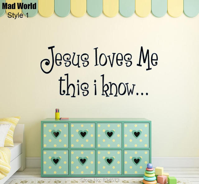 Mad World Verse Loves Me Quote Wall Art Stickers Decal Home Diy