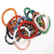 Браслет и браслет из натурального кварца с круглыми бусинами