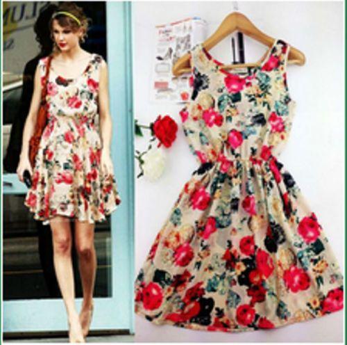 Floral Dress Celebrity