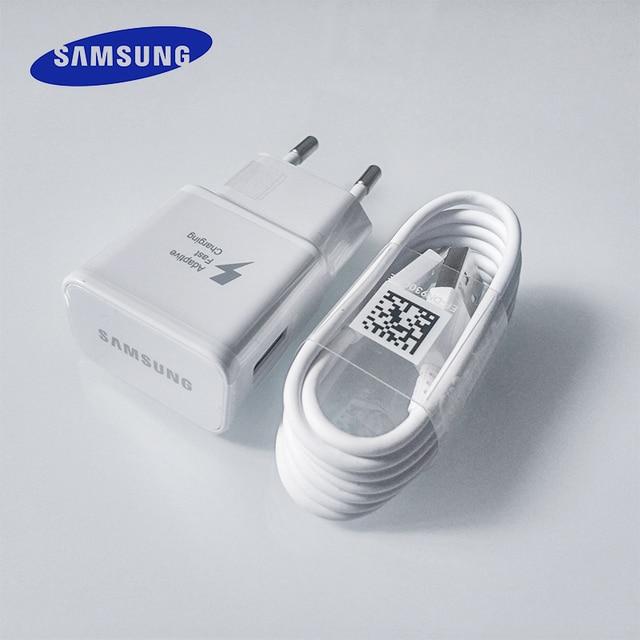 Samsung cargador rápido adaptador de alimentación USB rápido de carga rápida 1,2 M Cable de tipo C para Galaxy S10 S8 S9 Plus a3 A5 A7 2017 Nota 8 9