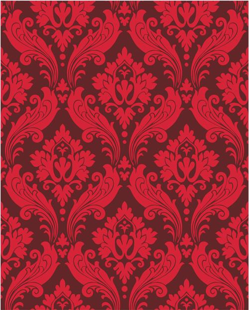digital printing red damask pattern backdrop photography