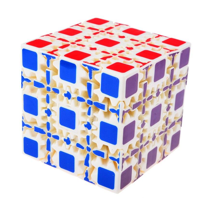 OMoToys 5x5x5 Cube d'engrenage Cube magique peint sans bâton Puzzle Twisty 8 cm-blanc