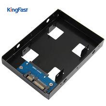 KingFast HDD кронштейн 2.5 3.5 конвертер SATA HDD/SSD 3.5 Жесткий диск конвертер HDD держатель SSD Кронштейн черный