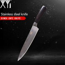 XYj One Stainless Steel Knife Damascus Veins Pattern Blade Ergonomic Handle Handmade Kitchen Top Quality Cooking Tools