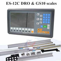 New Easson ES-12C 3 axis DRO system mill lathe 3 axis digital readout and 3 pieces GS10 digital linear scale for lathe milling